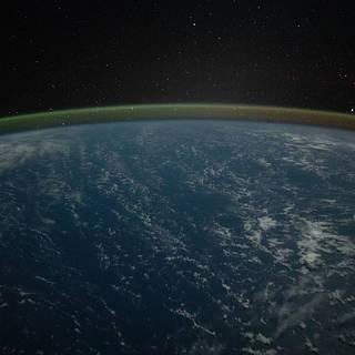 The atmospheric glow blanketing Earth's horizon