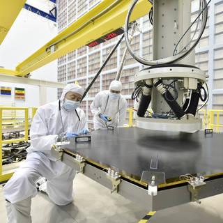 Webb Telescope Mirror Mount on the Robotic Arm image