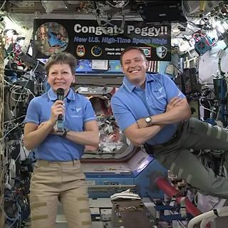 NASA Astronauts on Space Station
