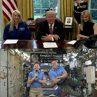 NASA Astronaut Peggy Whitson Talks STEM Education with President Trump