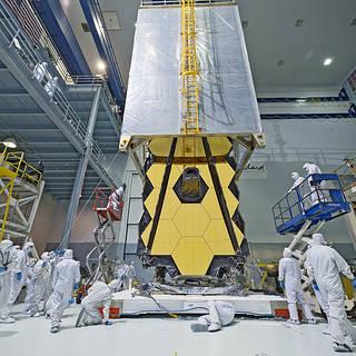 NASA's Webb Telescope Clean Room 'Transporter' image