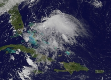 GOES image of Chantal