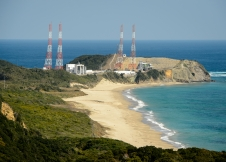 launch pads at the Japan Aerospace Exploration Agency's Tanegashima Space Center