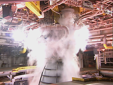 RS-25 engine fires up for a 500-second test Jan. 9
