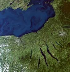 Landsat 8 image of Lake Ontario