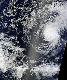 NASA's Terra satellite passed over Hurricane Iselle in the Central Pacific Ocean.