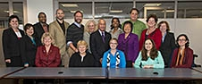 NASA Administrator Charles Bolden poses with the 2014 Einstein Fellows