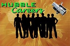 Graphic showing the outline of a group of people under the Hubble and the words Hubble Careers