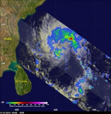 TRMM satellite view of rainfall for 30W
