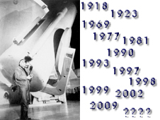 Photo of Edwin Hubble on the left with Hubble milestone dates on the right