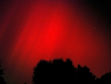 The Halloween solar storms of 2003 resulted in this red aurora visible in Mt. Airy, Maryland.
