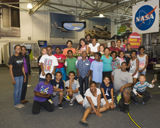 NASA hosted the Greene Scholar Program for the first time this summer at the Exploration Encounter Center, a supersonic wind tunnel converted into a learning facility.