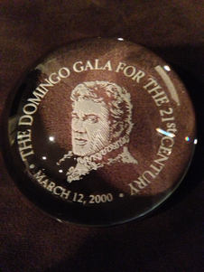 The Placido Domingo Tiffany paperweight