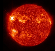 Image of X1.9 class solar flare captured by SDO.