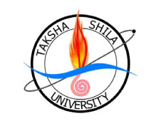 Taksha University logo