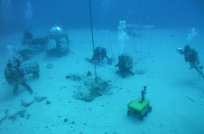 Aquanauts test and develop surface operations.