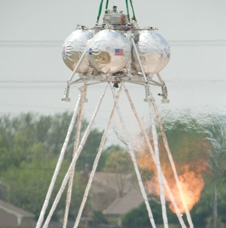 Morpheus completes its first hot-fire test