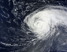 NASA's Terra satellite captured this true-color image of Hurricane Nadine in the Atlantic Ocean on Sept. 16, 2012.