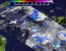TRMM image of Tropical Depression 18