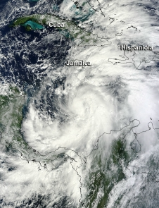 MODIS image of Sandy
