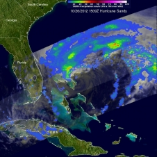 TRMM image of Sandy