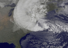 GOES image of Sandy