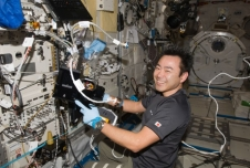 Japan Aerospace Exploration Agency astronaut Aki Hoshide