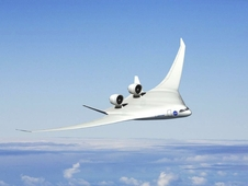 The Boeing Company's advanced design concept is a variation on the extremely aerodynamic hybrid wing body.