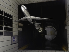 Common Research Model test in 11-by 11-foot Unitary Plan Wind Tunnel at NASA Ames.