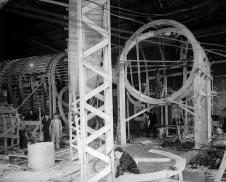 Construction of Low Turbulence Pressure Tunnel, 1940