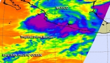 AIRS image of Tropical Storm Manuel