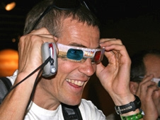 South African James Pittman enjoyed a view of the Martian landscape through 3-D glasses.
