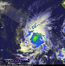 TRMM image of Amanda on May 25