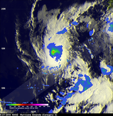 TRMM image of Amanda on May 28