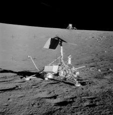 Surveyor 3 (foreground) and Apollo 12 landing module