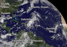 GOES image of the Atlantic systems