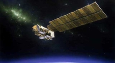 artist concept of Aura satellite