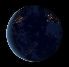 Earth at night (composite image)