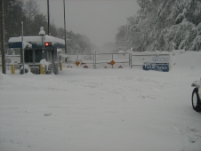 Goddard gate during the blizzard of 2010.