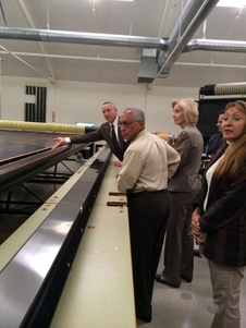 NASA Administrator Charles Bolden touring ROSA during his visit to the Deployable Space Systems facility.