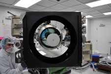 The Cloud-Aerosol Transport System (CATS) instrument shown here uses three-wavelength lasers to extend satellite observations of small particles in the atmosphere. CATS is scheduled to launch in September on a SpaceX ISS commercial resupply flight.