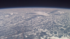 By reflecting sunlight into space, clouds help regulate the Earth's climate. This image was taken from aboard the International Space Station, which is where the Cloud-Aerosol Transport System (CATS) will measure cloud aerosols.