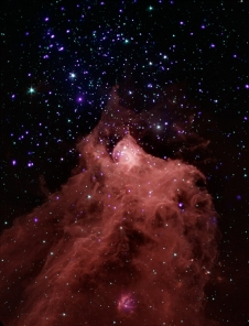 Composite image of molecular cloud Cepheus B.