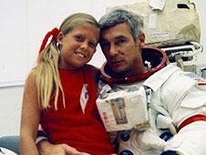 Eugene Cernan with daughter Tracy