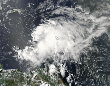 MODIS image of Chantal