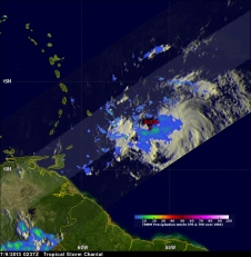 TRMM image of Chantal
