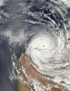 MODIS image of Christine