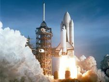In 1981, space shuttle Columbia launched for the first time.