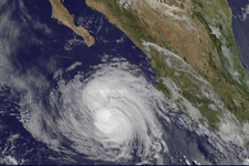 GOES image of Cristina