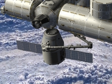 Artist's rendering of a SpaceX Dragon spacecraft